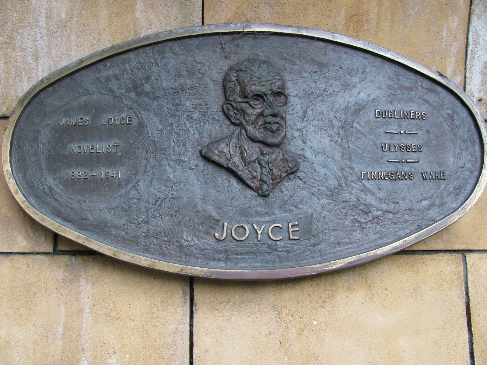 Literary Parade Joyce Plaque