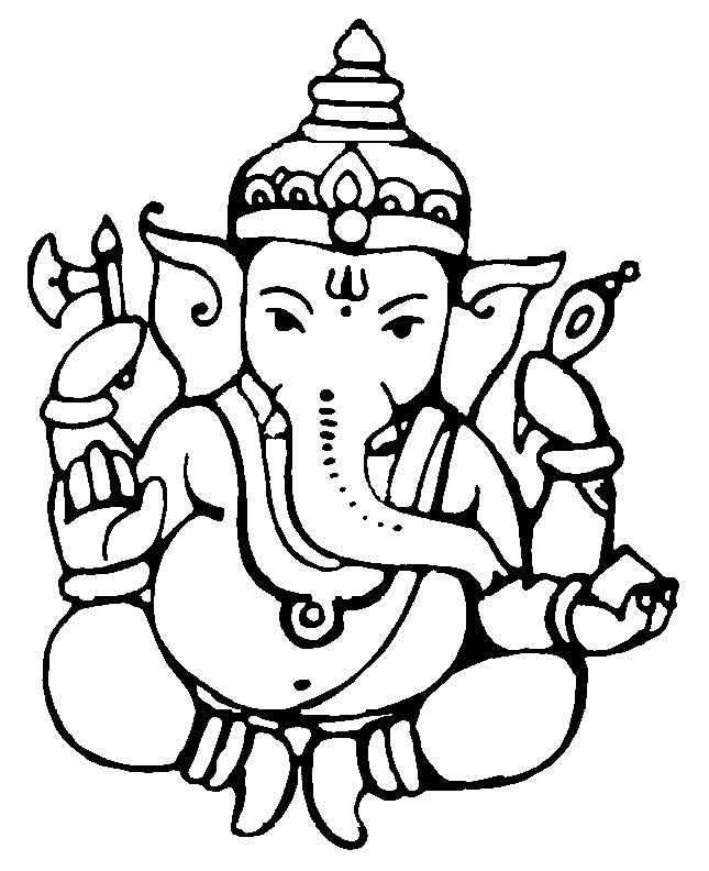 Line Art Of Lord Ganesha : Free clipart american flags