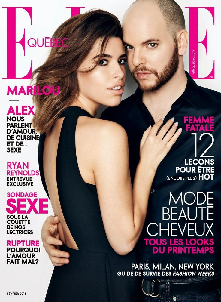 Marilou and Alexandre Champagne - Elle Quebec, February 2015