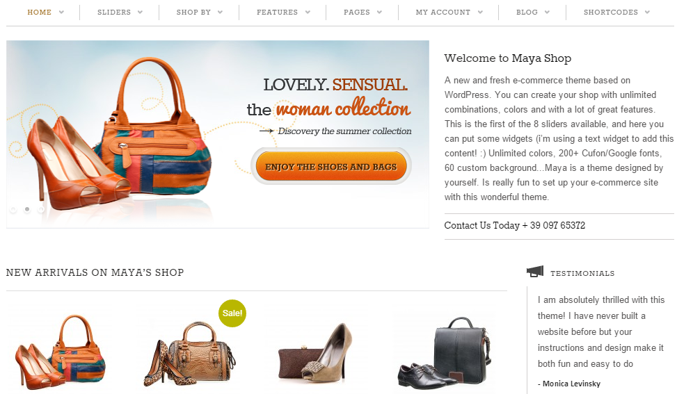 MayaShop WP Theme
