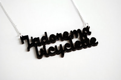 Ma Bicyclette: National Bike Month - J'adore Ma Bicyclette Necklace