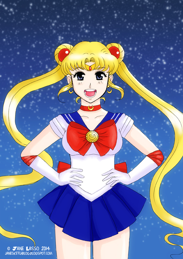 Sailor moon fan art hecho por Jane Lasso
