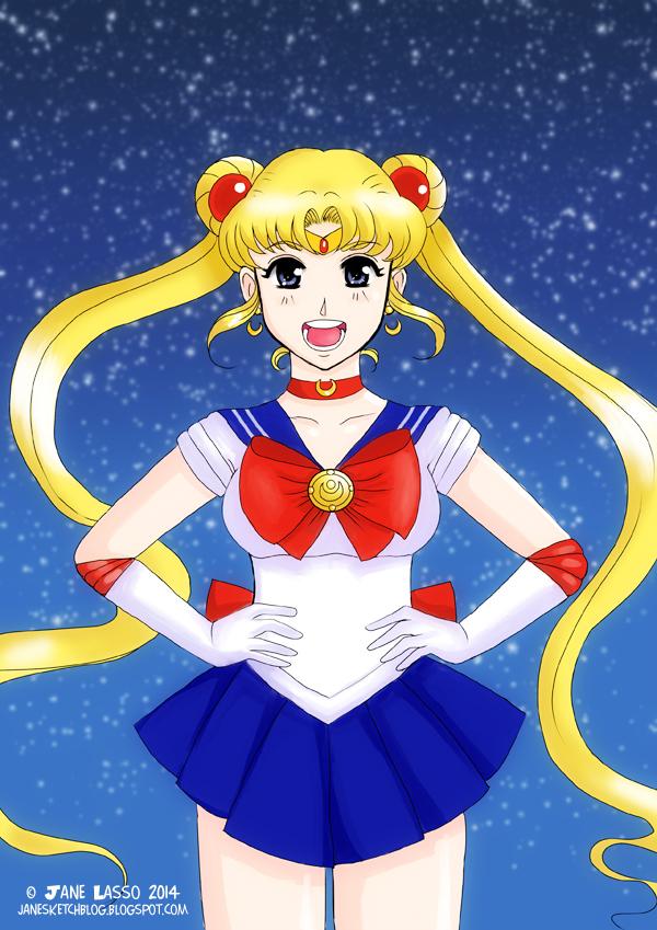 Sailor moon fan art hecho por Jane Lasso