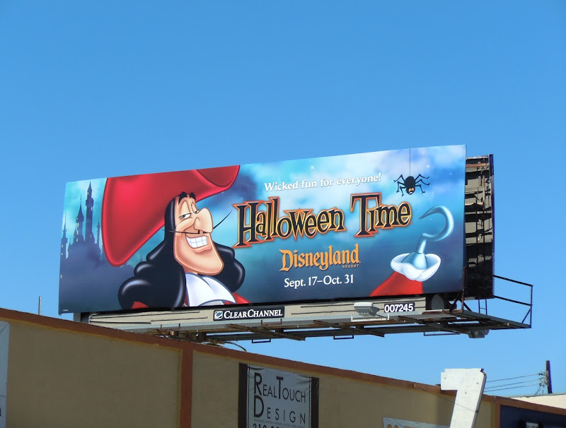 Captain Hook Disneyland Halloween Time billboard