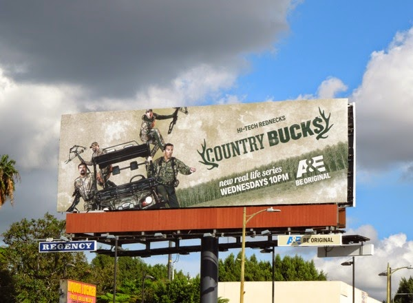 Country Bucks series launch billboard