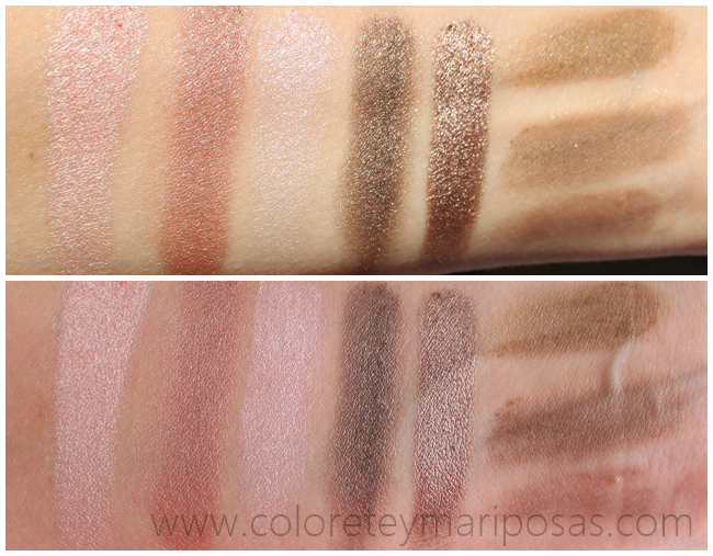 Swatches Paleta I HEART MAKEUP