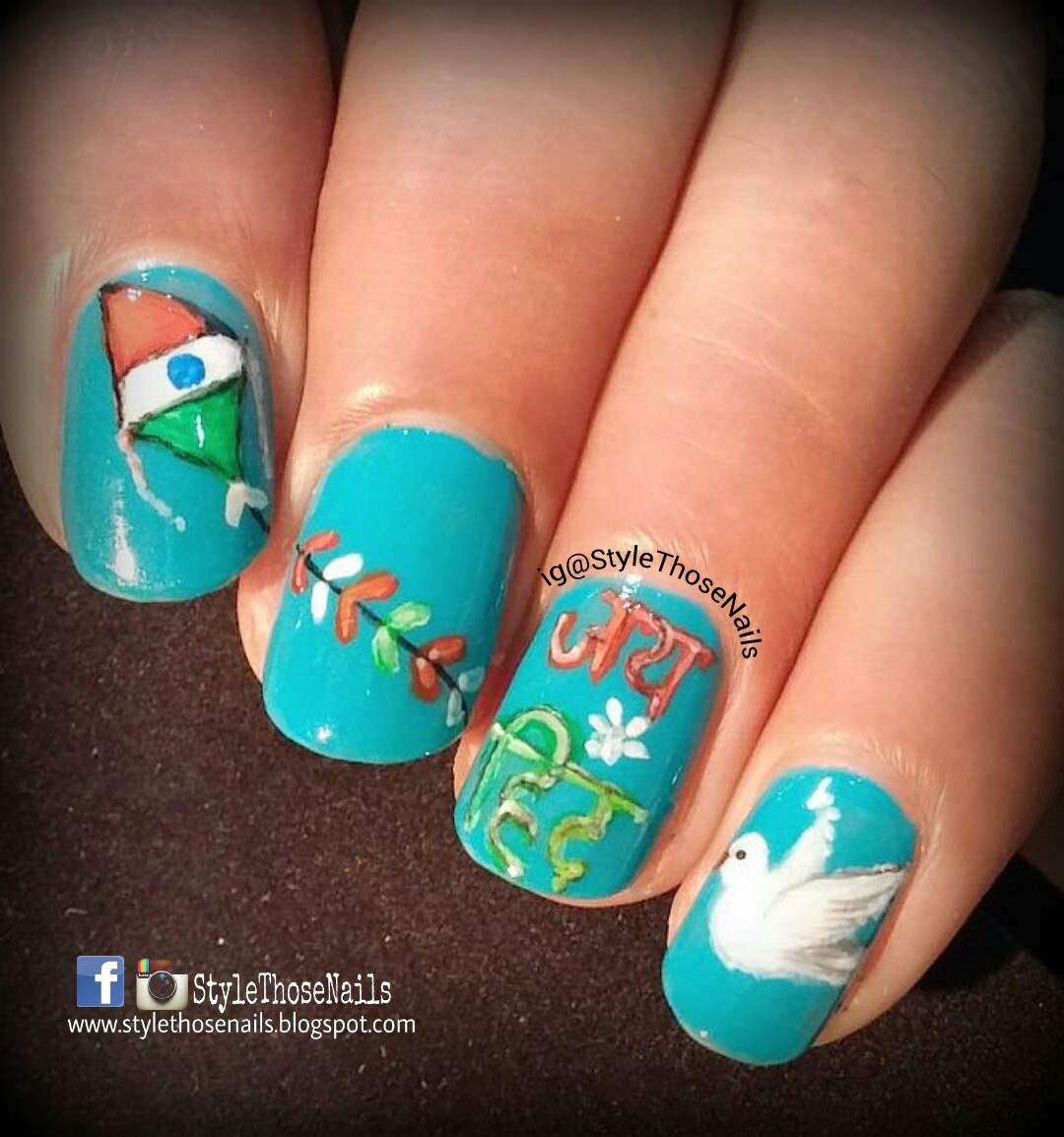 Style those nails indias independence day nailart happy 15th august 2015 is indias 69th independence day i remember as a child how we used to celebrate this day in school flag hoisting and national anthem and prinsesfo Image collections