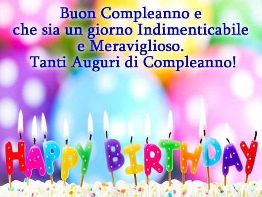 Super Frasi d'Amore: Buon compleanno in inglese OK09
