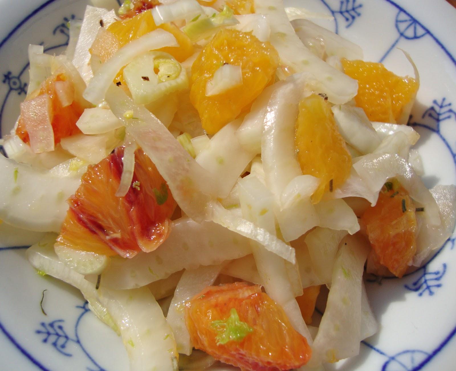 Salat mit orange und fenchel