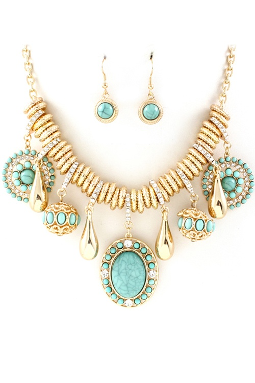 Turquoise Capri Necklace Set