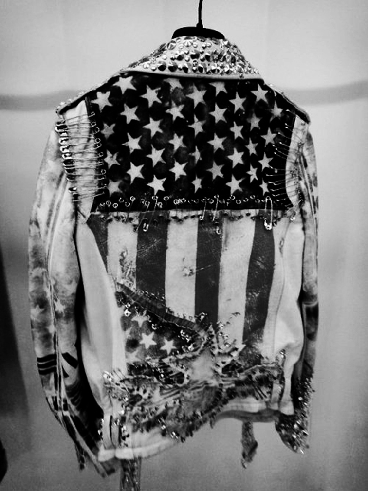 Americana Flag Denim Punk Jacket
