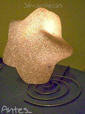 cómo hacer una lámpara de noche casera-