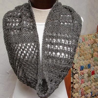 Terrific Fibers: New Lace Cowl pattern