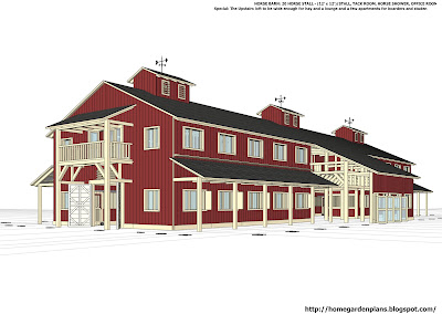 Build A Coop Blog H20b1 20 Stall Horse Barn Plans Large