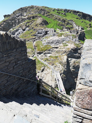 Steps at Tintagel Castle of King Arthur Legends