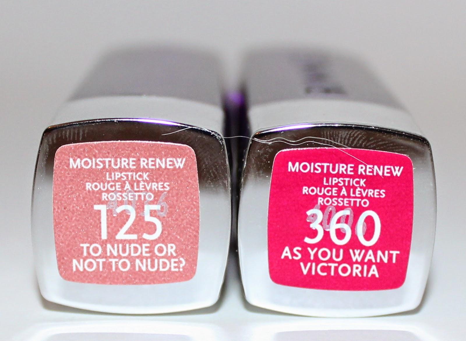 Rimmel Moisture Renew Lipstick Labels