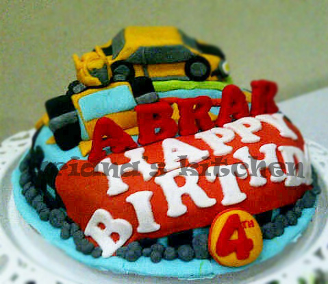 Arianas Kitchen bumblebee birthday cake and cupcakes for Abrar