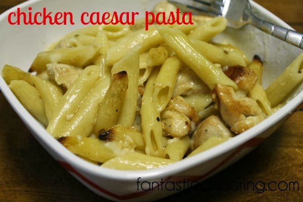 Chicken Caesar Pasta | Full of flavor and just all-around delicious!