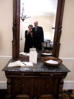 Kent Buttars & Patricia Stimac, Seatting Wedding Celebrants, taking a self-portrait at the Sorrento Hotel