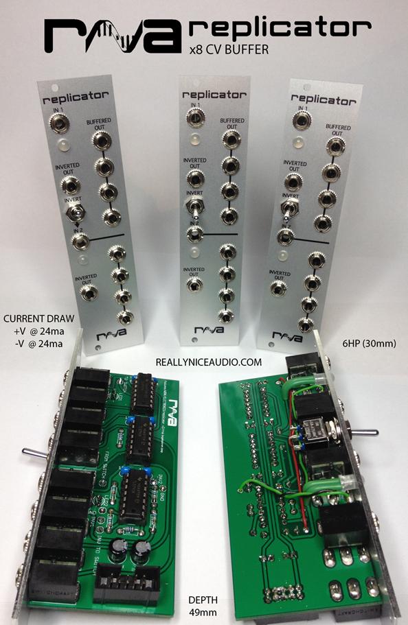 matrixsynth really nice audio rna replicator dualhmvco1a cv mixers eurorack modules. Black Bedroom Furniture Sets. Home Design Ideas