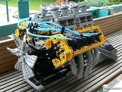 Brinquedo lego, montagens incríveis