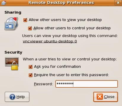 تفعيل خاصية التحكم عن بعد بنظام تشغيل Ubuntu