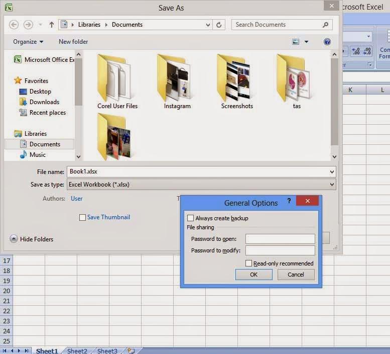 Cara Mudah Mengunci (pasword) pada Excel