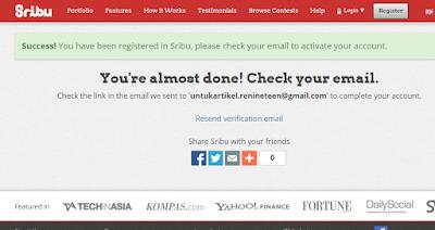 Berhasil mendaftar di sribu