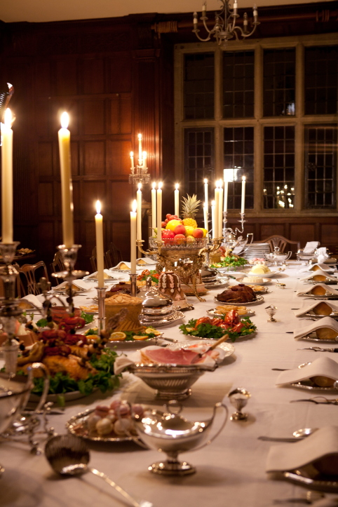 Food history jottings pride and prejudice having a ball for Table setting for thanksgiving dinner