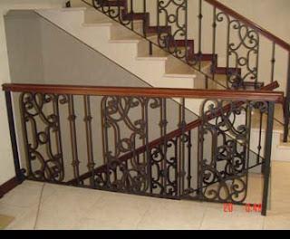 Herreria y aluminio ecorank escaleras y barandales for Escaleras de fierro para casa