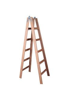 Escadas de madeira para pintura