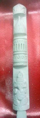 Chalk Piece carved Ganesh