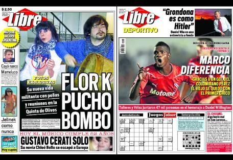 tapa diario libre flor k report show el mundo del On diario el show del espectaculo
