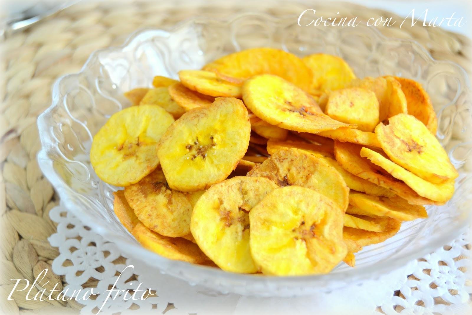 plátano frito y crujiente