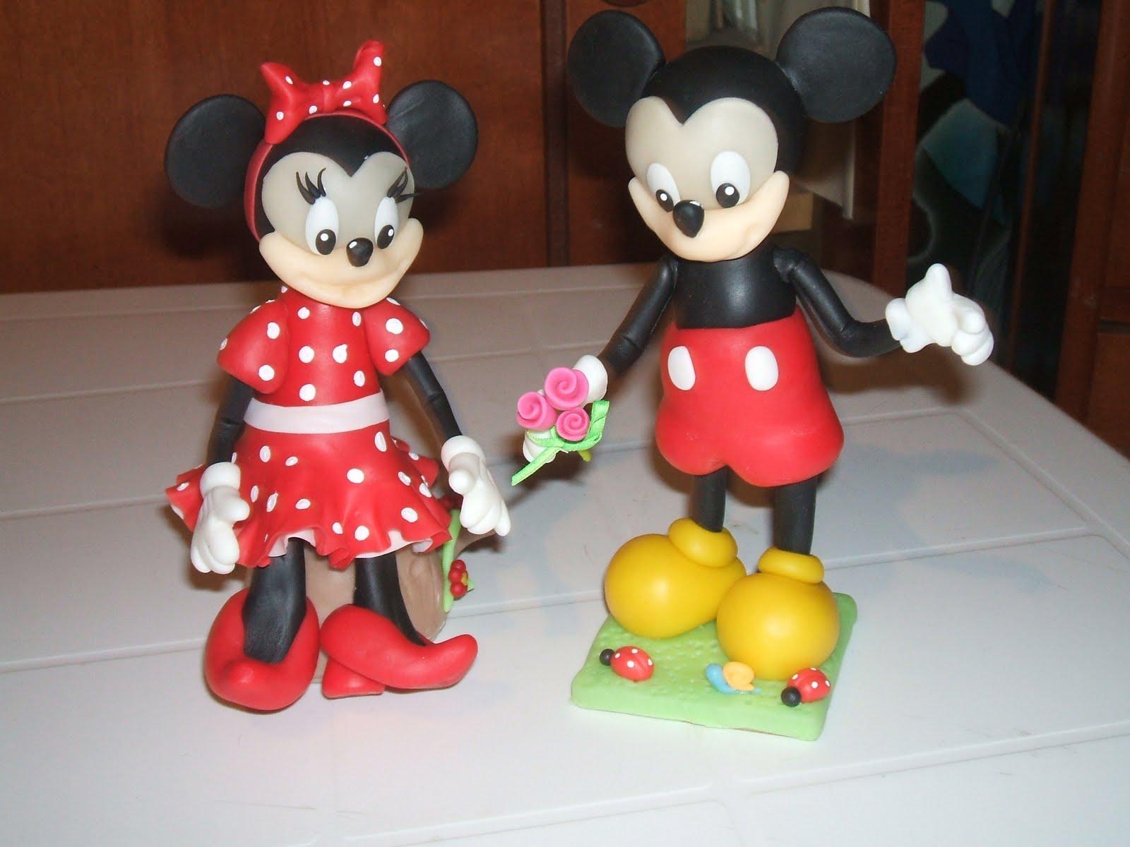 Como hacer souvenirs de Mickey Mouse en porcelana fría - Imagui