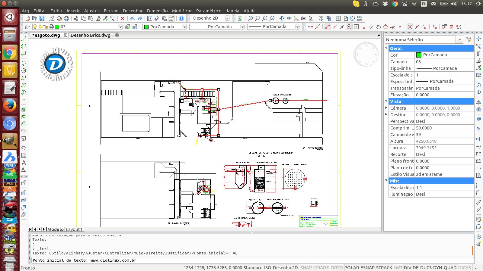 BricsCAD Uma alternativa para Linux ao AutoCAD que abre arquivos DWG  #0862C3 1600x900 Baixar Banheiro Para Autocad