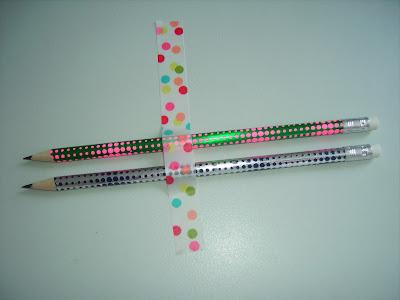 masking tape polka dots