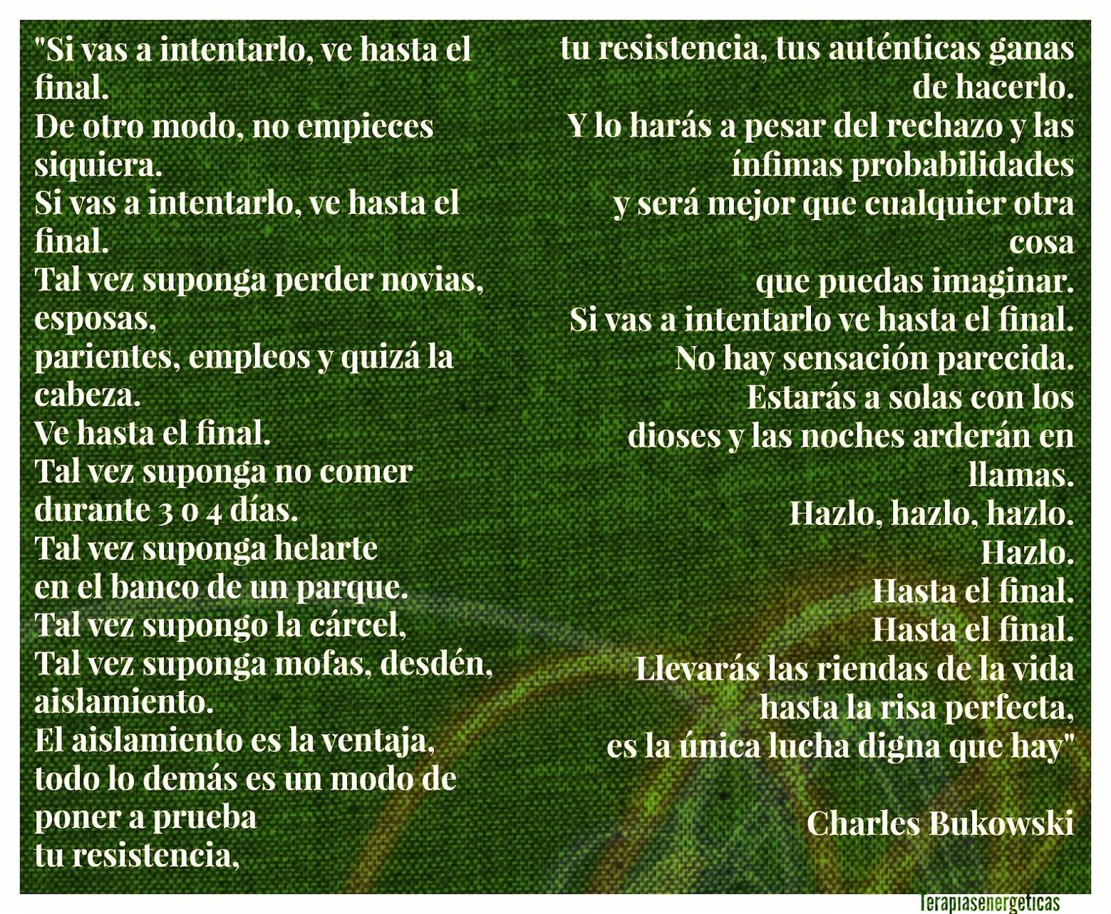 Voluntad, Charles Bukowski