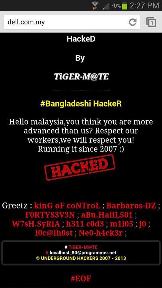 Penggodam Bangladesh serang laman web Malaysia