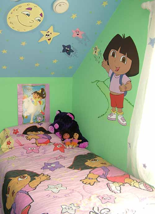 Dora the explorer bedroom decor home decoration for Dora themed bedroom designs
