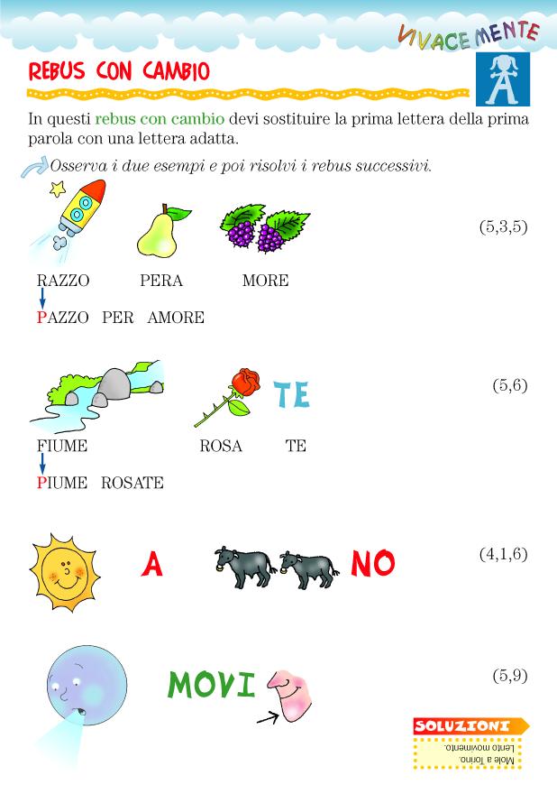 Top parole con gli per bambini el34 pineglen for Rebus facili da stampare