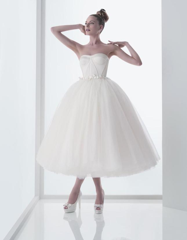 Wedding Trends Tea Length Bridal Gowns