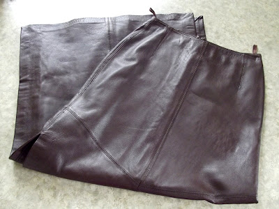 Сумка из кожаной юбки 18