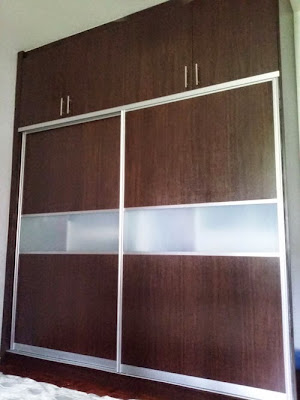 Wardrobe installed in Bungalow at Bukit Damasara