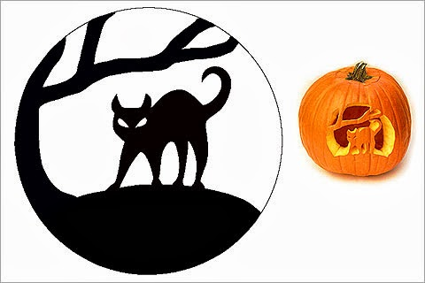 The french touch halloween on sycamore street for Cat pumpkin designs to carve