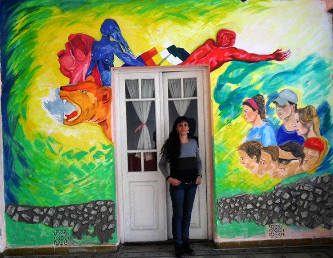 Mural en la Casa Fuentealba de Llavallol