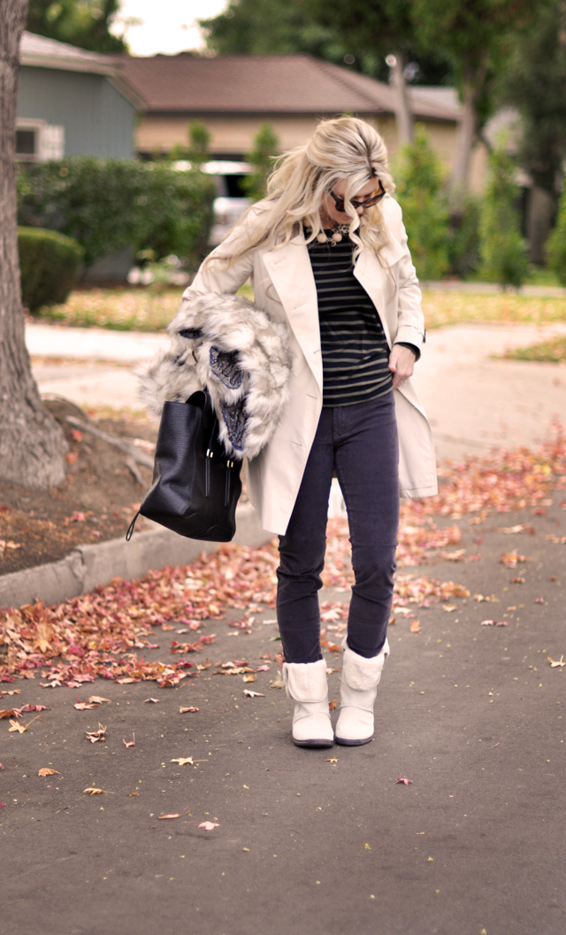 casual outfit, burberry trench