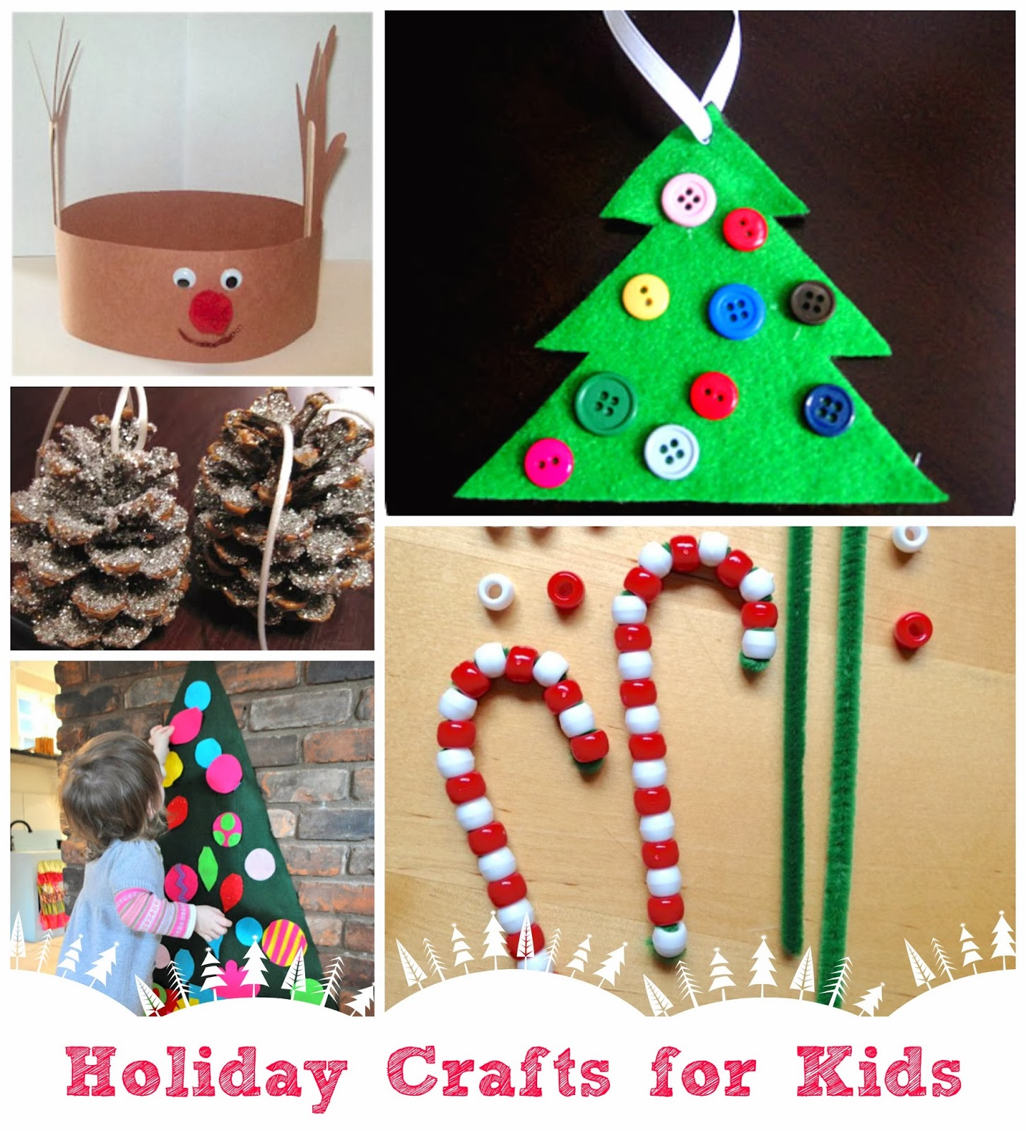 Winter holiday crafts for kids for Free christmas crafts for kids