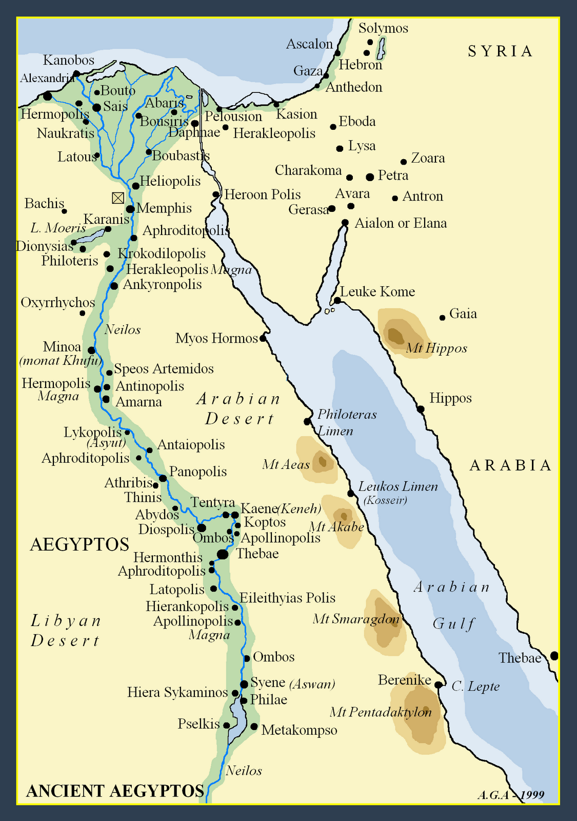 Egypt Cities Map