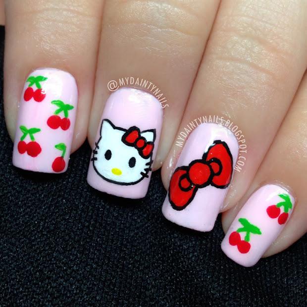 dainty nails kitty